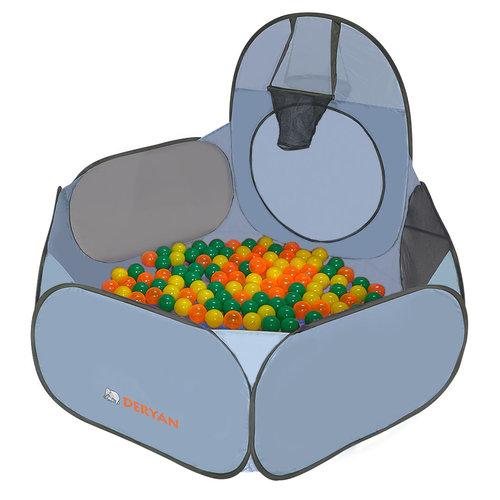 DERYAN DERYAN LUXE Pop Up XXL Kindertent 3-in-1 Speeltent Met Tunnel Voor Kinderen - basketball ballenbak 45 ballen