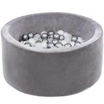 Ballenbak Rond 90x40 | Velvet Grey