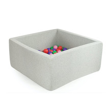 Ballenbak Vierkant 110x110x40 | Light Grey