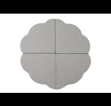 Speelmat - Bloem -  Light Grey, 120cm