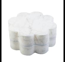 Poef - Bloem - White Marble
