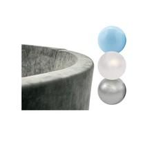 Ballenbak Rond 90x30 | Velvet Grey incl. 150 ballen (Pearl/Silver/Light Blue)