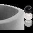Misioo Ballenbak Rond 90x30   Licht Grijs incl. 150 ballen (Silver/Pearl/Black)