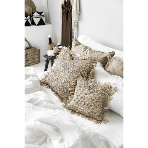 Bazar Bizar Kussen Raffia Cushion Square - Natural - L