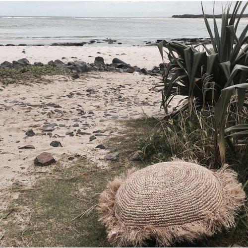 Bazar Bizar Kussen Raffia Cushion Round - Natural - L