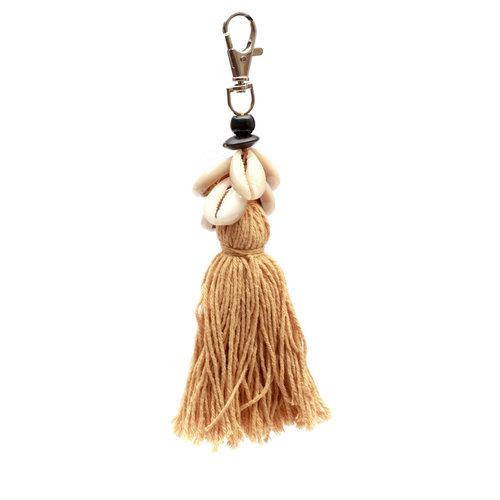 Bazar Bizar Sleutelhanger Cowrie Tassel Keychain