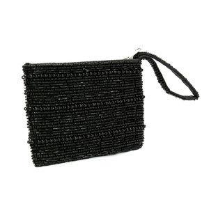 Bazar Bizar The Black Beaded Wallet
