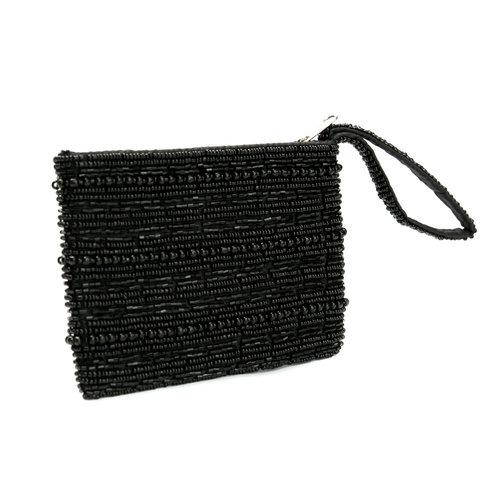 Bazar Bizar Portemonnee Black Beaded Wallet