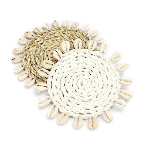 Bazar Bizar OnderzetterZeegras Shell Coaster - Natural