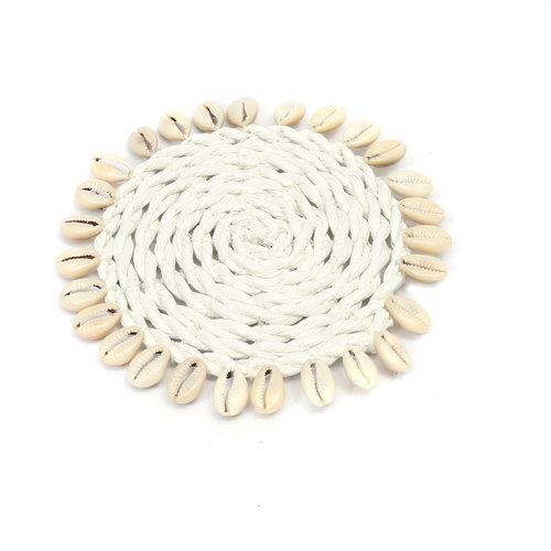 Bazar Bizar The Seagrass Shell Coaster