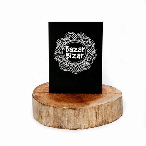Bazar Bizar Kaartenhouder Teak Root
