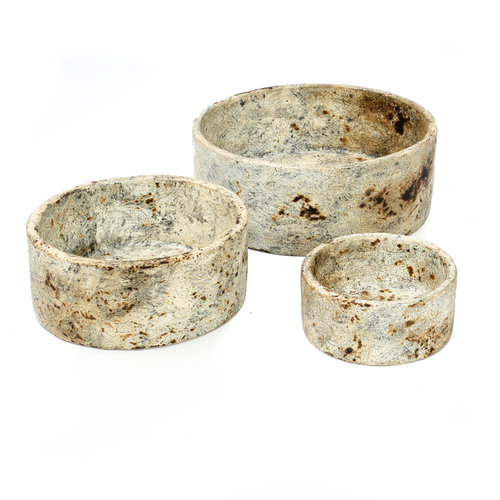 Bazar Bizar Schalen The Burned Cylinder Dish - Antique - SET3