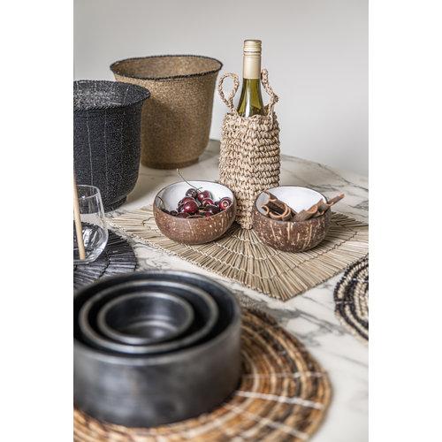 Bazar Bizar Schalen The Burned Cylinder Dish- Zwart - SET3