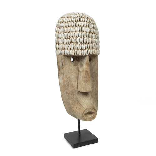 Bazar Bizar The Cowrie Mask on Stand - Large