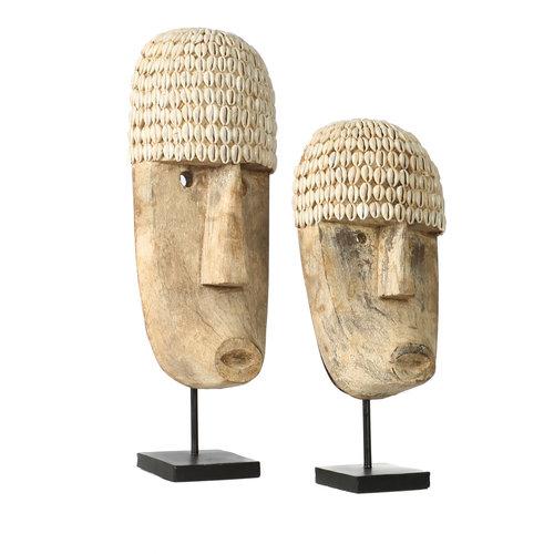 Bazar Bizar The Cowrie Mask on Stand - Medium