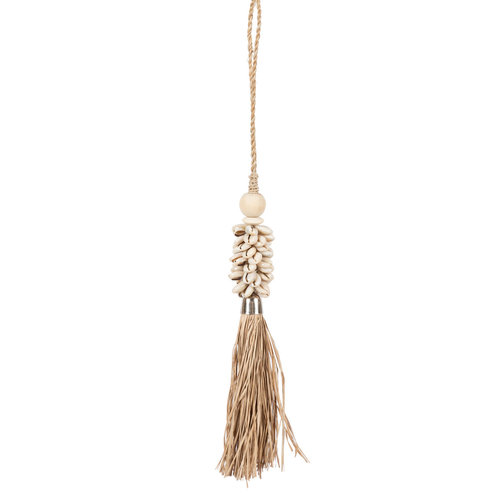 Bazar Bizar The Cowrie and Raffia Tassel