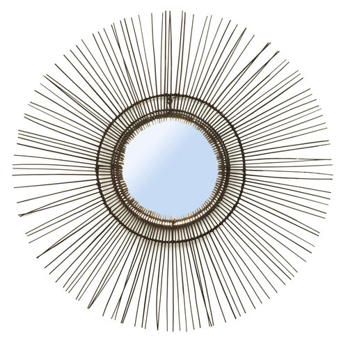 Bazar Bizar Spiegel The Tropical Mirror - Zwart - L