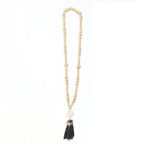 Bazar Bizar Ketting the Lovina Necklace - Natural Zwart