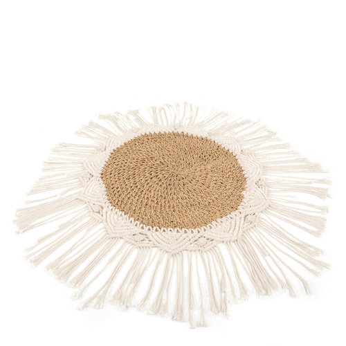 Bazar Bizar Placemat The Boho Center Piece - Natural Wit