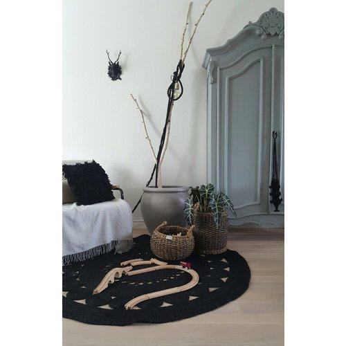 Yoshiko Home Hatiya - Vloerkleed Zwart