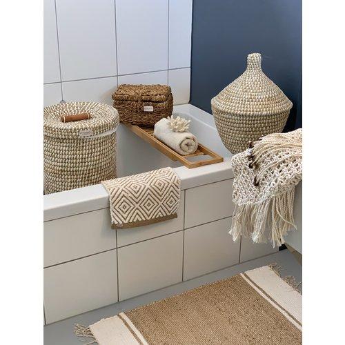 Yoshiko Home Santhia - Vloerkleed Naturel / Wit