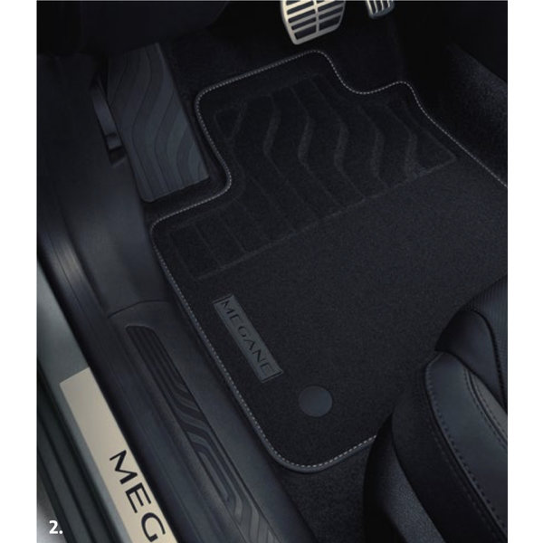 Renault Megane | 2016 – heden Renault Megane Hatchback (vanaf 2016) - Automatten - Stof - Set van 4 matten
