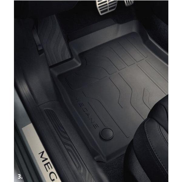 Renault Megane | 2016 – heden Renault Megane (vanaf 2016) - Automatten - Rubber - Set van 4 matten