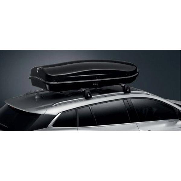 Renault Megane | 2016 – heden Renault Megane (vanaf 2016) -Dakkoffer - 480 liter - Zwart Hoogglans