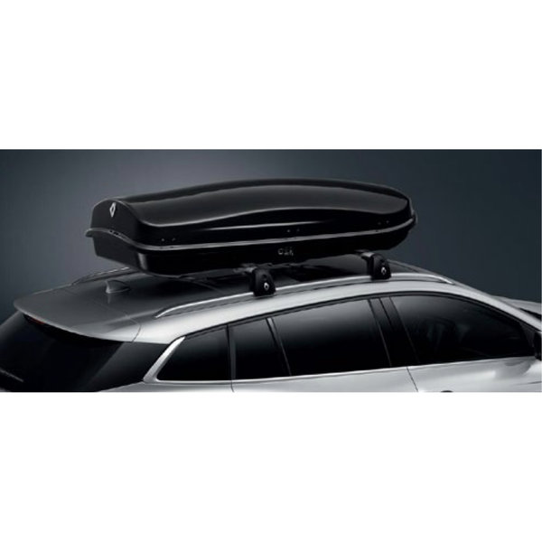 Renault Megane IV | 2016 – heden Renault Megane (vanaf 2016) -Dakkoffer - 630 liter - Zwart Hoogglans