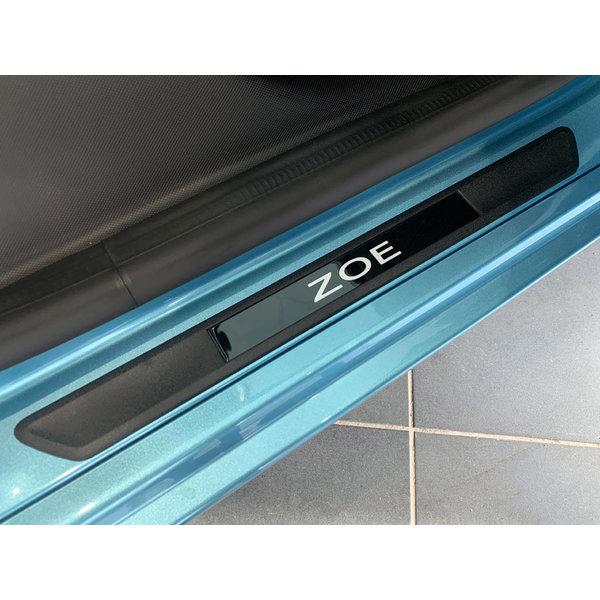 Renault ZOE Renault ZOE - Instaplijsten -  Set van 2 - Grijs met zwarte achtergrond