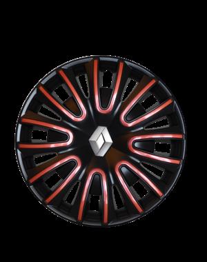 Renault Twingo Renault Twingo - 15'' Wieldoppen - zwart met rood