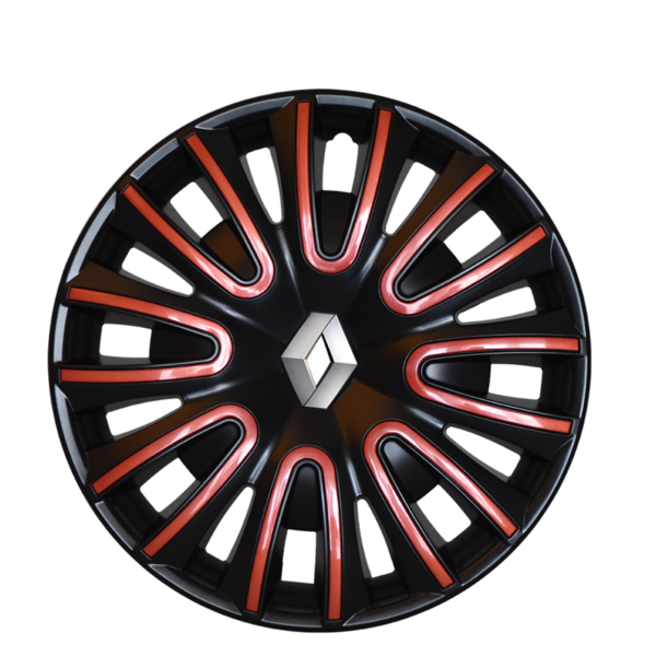 Renault Twingo Renault Twingo - 15'' Wieldoppen - zwart met rode afwerking