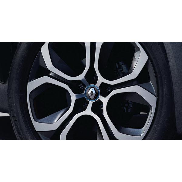 Renault ZOE Naafkap - Grijs met blauwe belijning
