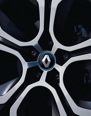 Renault ZOE Renault ZOE - naafkap Zwart met blauw