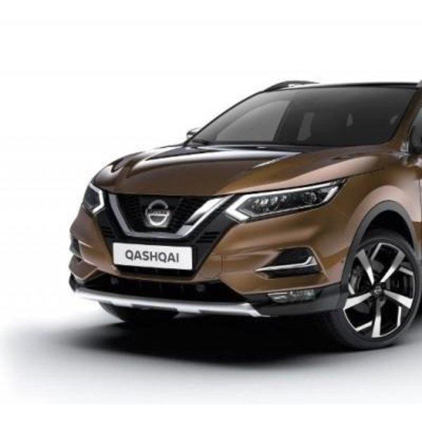 Nissan Nissan Qashqai - Stylingplaat Voorzijde in kleur Chrome Touch & Black Touch