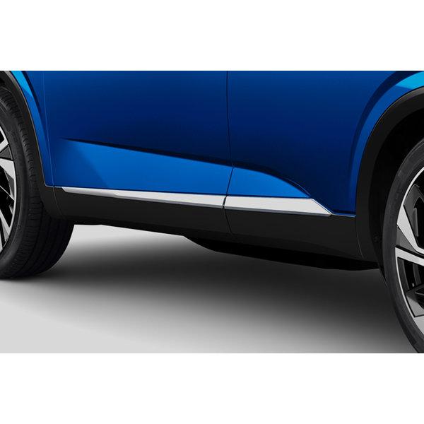 Nissan Qashqai   2021 – heden Nieuwe Nissan Qashqai - Sierlijst - Zijdelings - Chrome