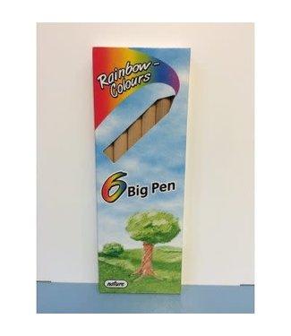 Rainbow Colors 6 Big Pen Kleurpotloden