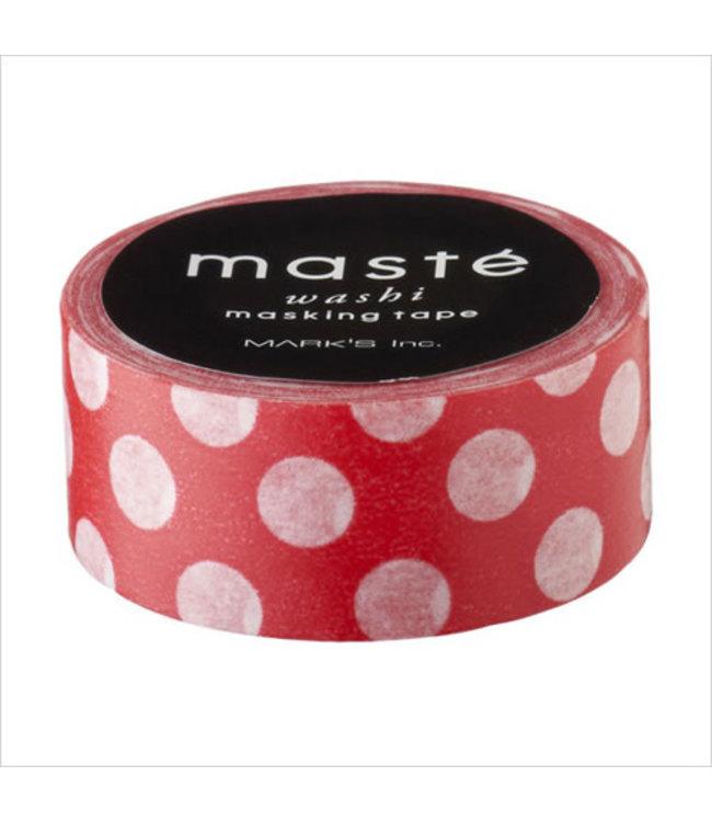 Mark's Japan Maste Washi Masking Tape - Red Polka Dots