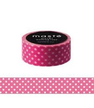 Mark's Mark's Japan Maste Washi Masking Tape - Pink Polka Dots