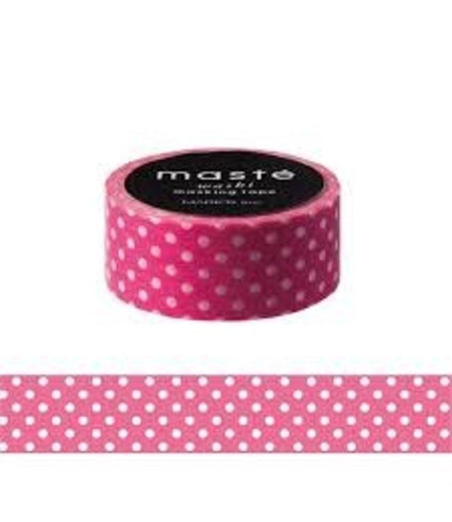Mark's Japan Maste Washi Masking Tape - Pink Polka Dots