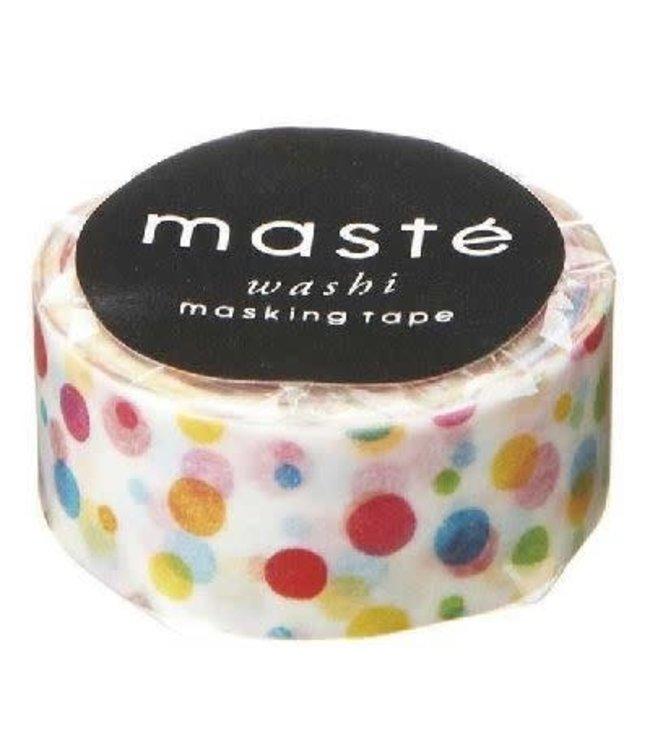 Mark's Japan Maste Washi Masking Tape - Colorful Dots