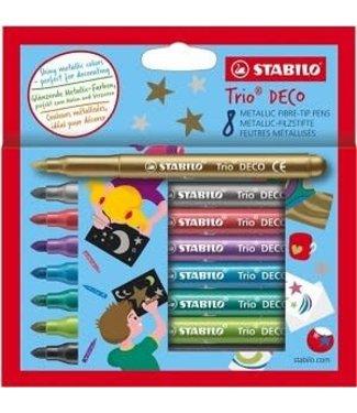Stabilo Stabilo Trio Deco Metallic Viltstiften 8 Kleuren
