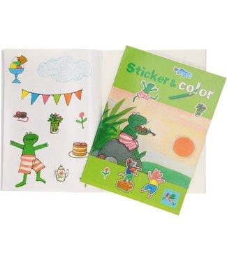 Kikker Super Sticker en Color Boek 3+