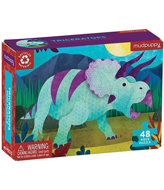Mudpuppy Mini Puzzle Triceratops 48 pcs 4+