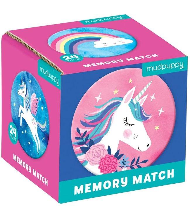 Mudpuppy Mini Memory Game Unicorn Magic  24 dlg  3+