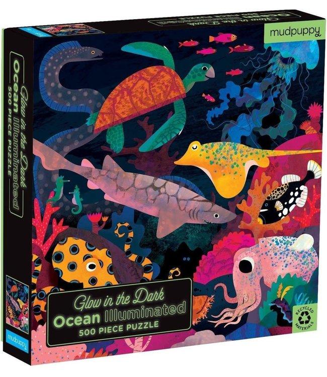 Mudpuppy Glow in the Dark Puzzle Ocean Illuminated 500 pcs 5+