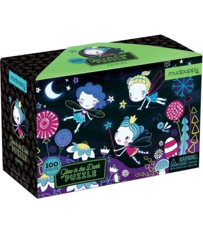 Mudpuppy | Puzzle | Glow in Dark | Fairies | 100 stukjes | 5+