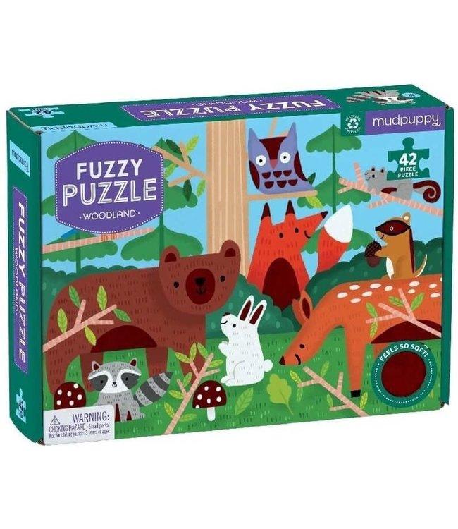 Mudpuppy | Fuzzy Puzzle | Woodland | 42 stukjes | 4+