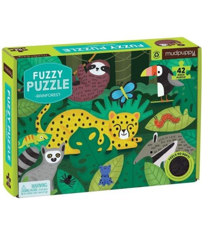 Mudpuppy | Fuzzy Puzzle | Rainforest | 42 stukjes | 4+