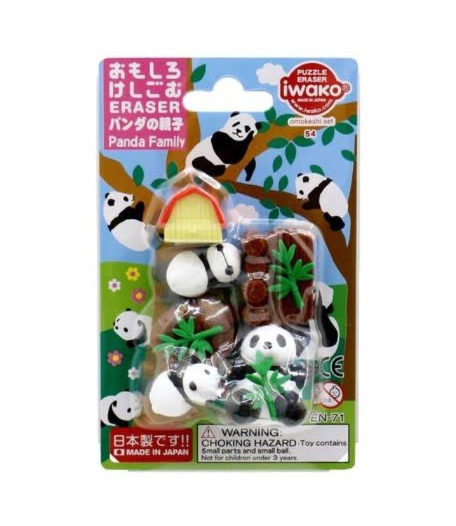 iwako Puzzle Eraser Panda Family Set 3+